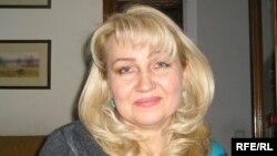 Евгений Жовтистің зайыбы Светлана Витковская. Алматы, 10 қараша 2009 жыл.