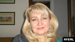 Светлана Витковская, супруга заключенного правозащитника Евгения Жовтиса. Алматы, 10 ноября 2009 года.