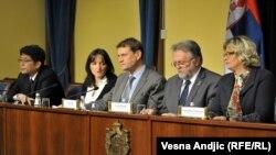 Sa konferencije za novinare Vlade Srbije i MMF-a