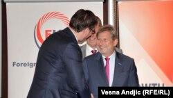 Aleksandar Vučić i Johanes Han u Beogradu