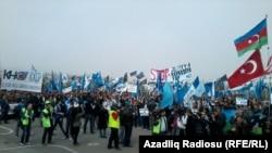 8 aprel 2012. İctimai Palatanın təşkil etdiyi mitinqdən foto