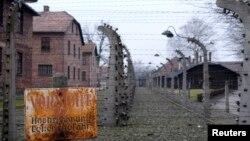 Загальний вигляд колишнього нацистського концтабору «Аушвіц-Біркенау» біля міста Освенцім, 19 січня 2015 року
