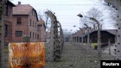 Территория бывшего нацистского концентрационного лагеря Аушвиц-Биркенау (Освенцим). 19 января 2015 года.