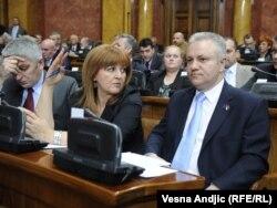 Mlađan Dinkić u Skupštini Srbije