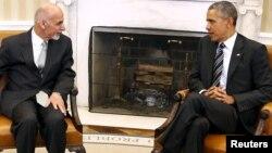Ауғанстан президенті Ашраф Ғани (сол жақта) мен АҚШ президенті Барак Обама. Вашингтон, 24 наурыз 2015 жыл.