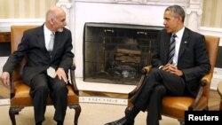 Barack Obama Ashraf Ghani ilə görüşdə