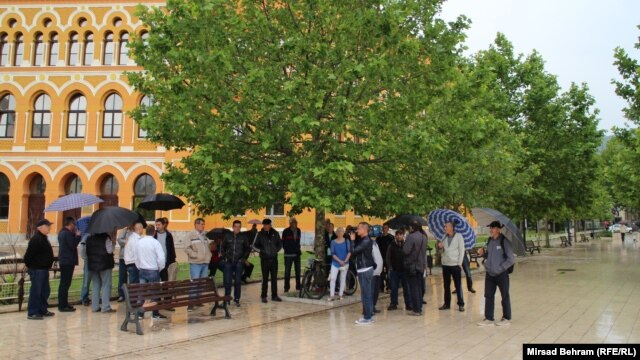 Protest boraca u Mostaru, 19. maj 2016.