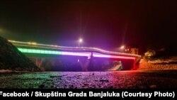 Most u bojama zastave Italije, Banjaluka