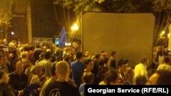 """Сторонники """"Грузинской мечты"""" собираются на площади Свободы"""