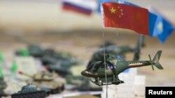 Қазақстанда өткен ШЫҰ елдерінің әскери жаттығуы кезінде қойылған макет. Алматы облысы, 24 қыркүйек 2010 жыл