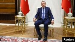 Redžep Tajip Erdogan u predsedničkoj palati