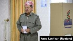 Իրաքյան Քուրդիստանի նախագահ Մասուդ Բարզանին քվեարկում է անկախության հանրաքվեում, Էրբիլ, 25-ը սեպտեմբերի, 2017թ․