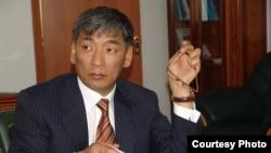"Urmat Baryktabasov, leader of Kyrgyzstan's ""Meken Tuu"" opposition party"