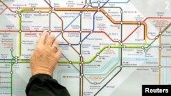 Мапа на метрото во Лондон