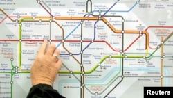 Лондон метросунун картасы