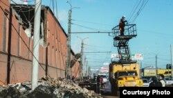 Челябинск, после падения метеорита.