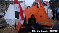 معتصم في ميدان التحرير بالقاهرة