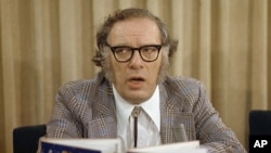 Will mutton chops be all the rage in 2064? The prescient Russian-born American science fiction writer Isaac Asimov in 1974.