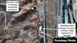 Суптниковый снимок военной базы Парчин
