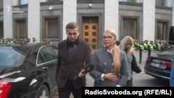 Журналіст Михайло Ткач і Юлія Тимошенко