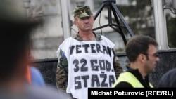 Sarajevo: Protest demobilisanih boraca