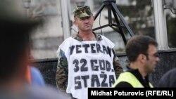 FOTOGALERIJA: Protest demobilisanih boraca