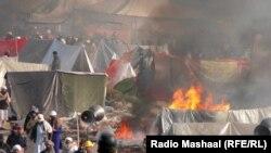معترضانی که در اسلامآباد اردو زدهاند. شنبه چهارم آذر