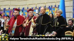 Вшанування голови Європейської ради Дональда Туска як почесного доктора Львівського університету, 20 лютого 2019 року