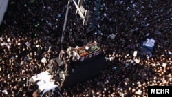 The massive funeral ceremony of Grand Ayatollah Hossein Ali Montazeri in December