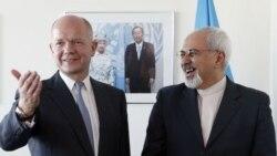 ԱՄՆ - Մեծ Բրիտանիայի և Իրանի արտգործնախարարներ Ուիլյամ Հեյգի և Մոհամմադ Ջավադ Զարիֆի հանդիպումը, Նյու Յորք, 23-ը սեպտեմբերի, 2013թ․