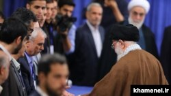 File photo- Iran's Supreme Leader Ali Khamenei casting his ballot in presidential election on May 19, 2017.