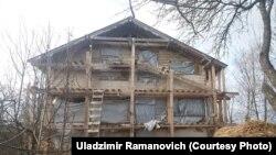 Так выглядаў дом Рамановічаў да пажару