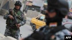 احدى نقاط التفتيش في بغداد