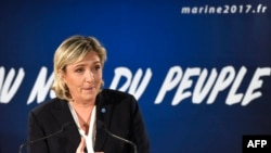 Марин Ле Пен, лидер Национального фронта Франции.