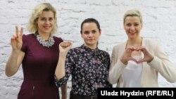 Вераніка Цапкала, Сьвятлана Ціханоўская, Марыя Калесьнікава.
