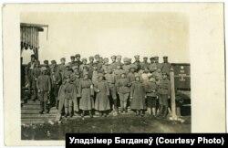 Рэшткі жаночага батальёну ў Маладэчне, сакавік 1918 году