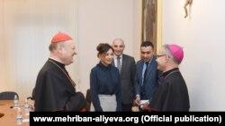 Mehriban Əliyeva Vatikanda görüşlər keçirir- [fotolar]