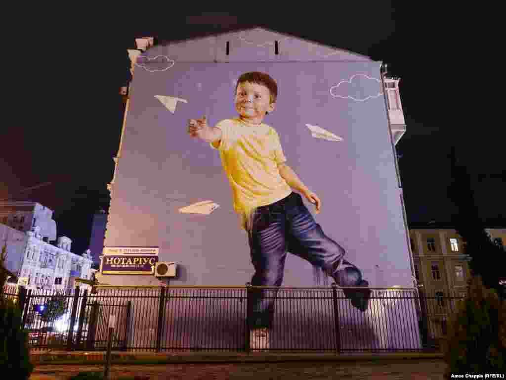 Boy With Darts, by Sacha Korban.