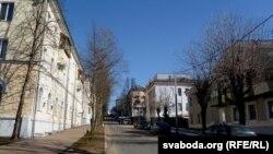 Выгляд з боку вуліцы Калініна