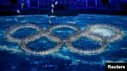 На церемонии закрытия Олимпийских игр в Сочи, 23 февраля 2014 года