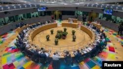 Евробиримдикке мүчө өлкөлөрдүн лидерлери Брюсселдеги саммитте. 28-июнь, 2018-жыл