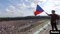 Прага, 23 июня 2019 года. Массовая демонстрация за отставку премьер-министр Андрея Бабиша