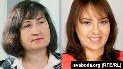 Алена Анісім і Ганна Канапацкая