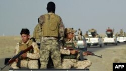 مقاتلون من أبناء عشائر الأنبار في عامرية الفلوجة