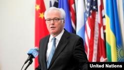 Российский представитель в ООН Виталий Чуркин