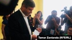 Георгий Шенгелия на выборах мэра Зугдиди, 19 мая 2019 г.