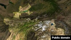 Таджикистан, снимок из космоса