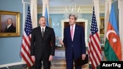ABŞ dövlət katibi John Kerry Vaşinqtonda prezident İlham Əliyevi qəbul edir - 30 mart 2016