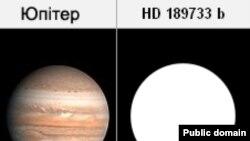 HD 189733 b приблизно на 15% більше ніж Юпітер