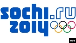 Логотип Олимпиады-2014 в Сочи.